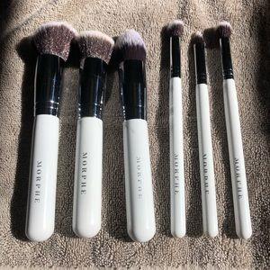 Morphe brushes with white handle